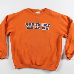 Vtg Walt Disney World Spell Out Crewneck Sweater M